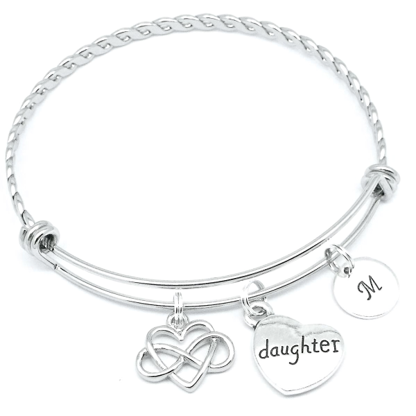 Daughter infinity love bracelet jewellery gift personalised